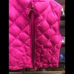 J Crew Hot pink vest size large